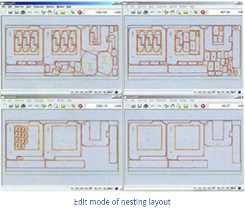 Edit Mode of Nesting Layout